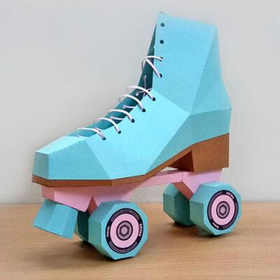 Papercraft Roller Skates