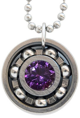 Roller Derby Skate Bearing Pendant Necklace